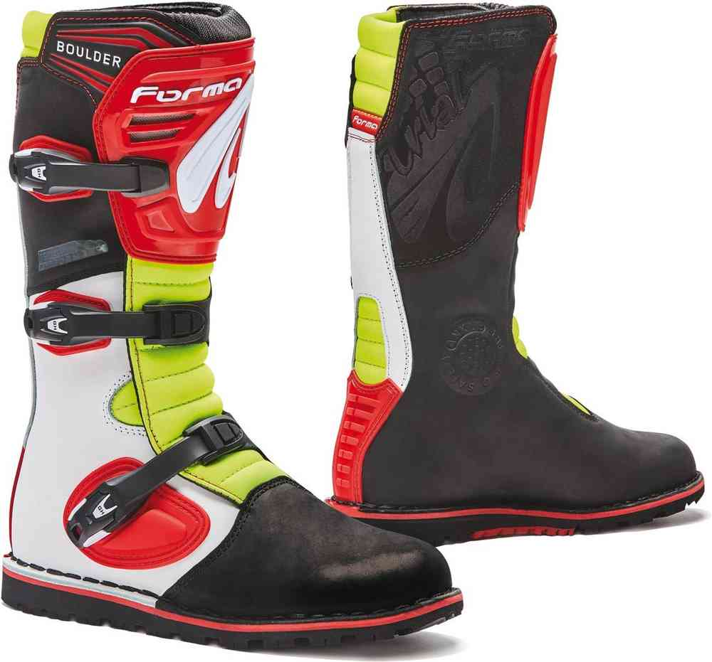 Stivale Forma Boulder White/Red/Yellow Fluo